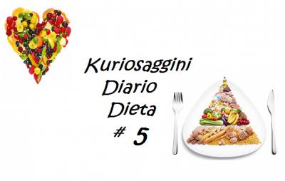 DIARIO DIETA # 5 – Secondo mese