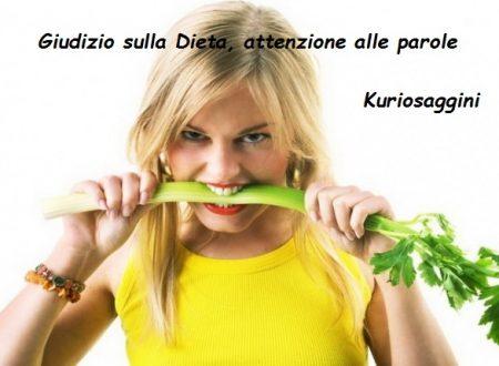 GIUDIZIO sulla dieta, attenzione alle parole